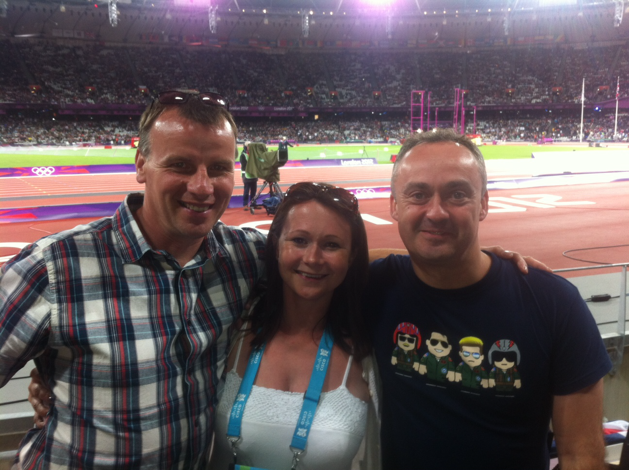 Guests of Cisco at the London Olympics