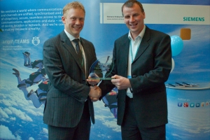 Siemens reseller of the year award UK EMEA 2013