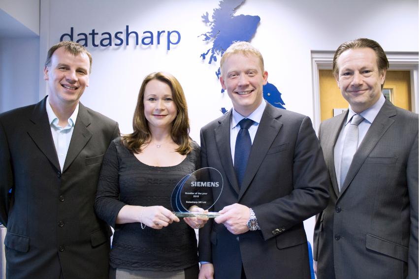 Datasharp and Siemens Reseller of the year award 2013
