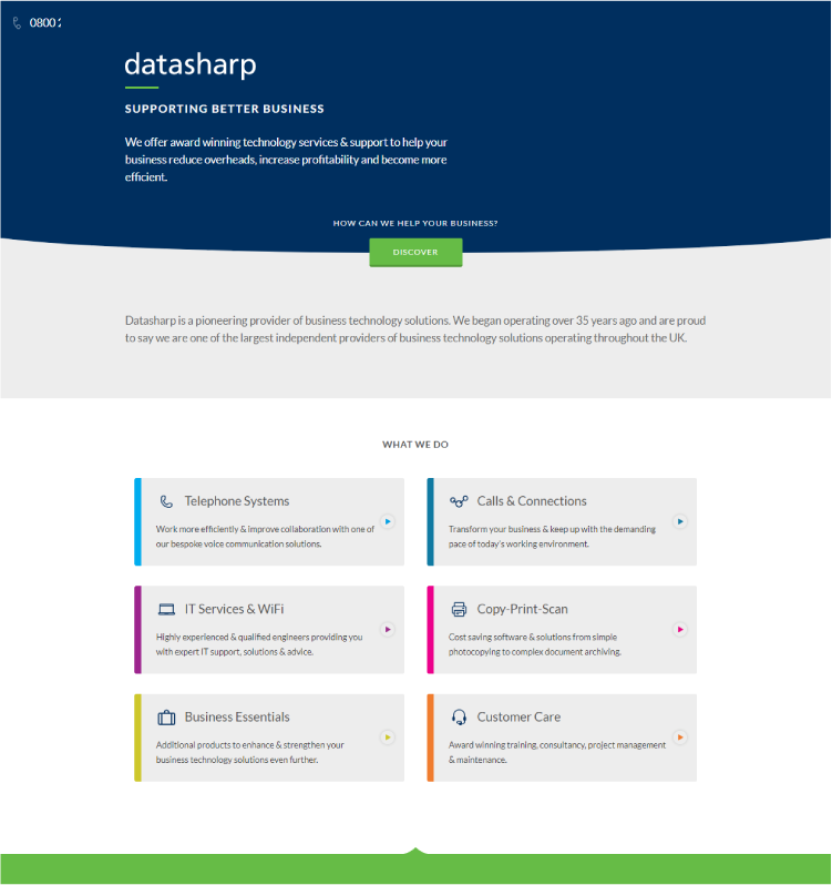 New website design 2015